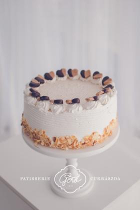 Búzalisztmentes habos gesztenye torta
