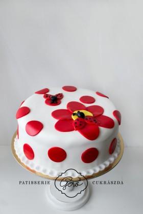 Katicás virág torta