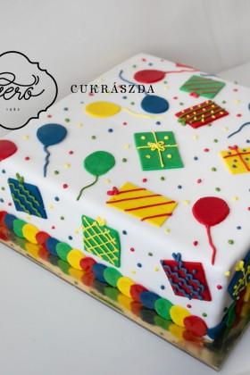 329. Szülinapi marcipános torta