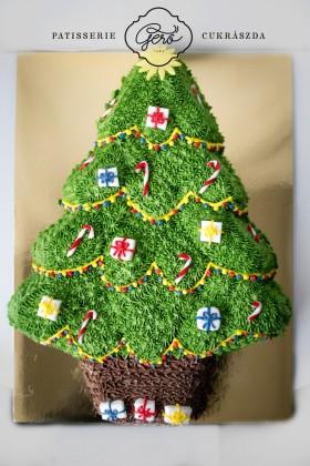 219. Karácsonyfa torta