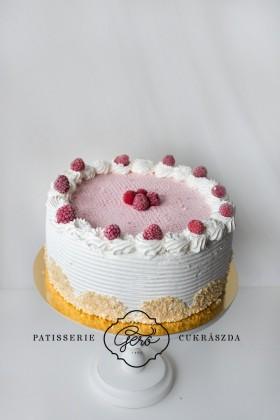 Búzalisztmentes habos málnás torta